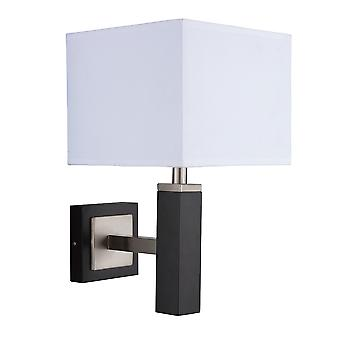 Searchlight 8878BR Waverley Brown Wood 1 Light Modern Wall Lamp