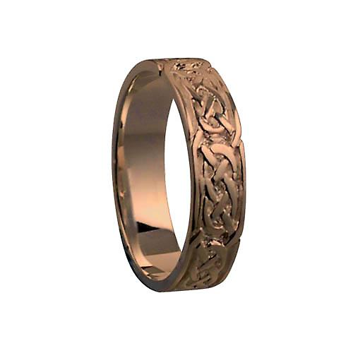9ct Rose Gold 6mm Celtic Wedding Ring Size Z