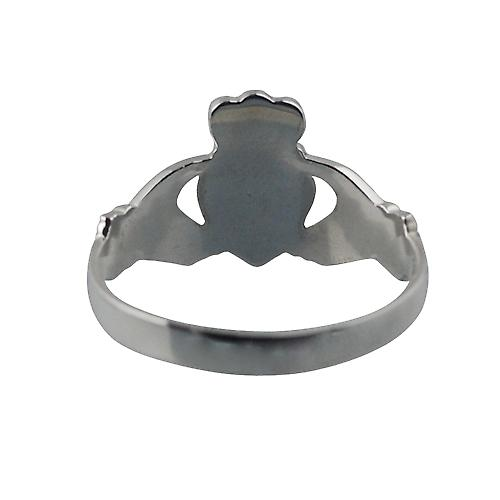 Silver 22x14mm Claddagh Ring Size Y