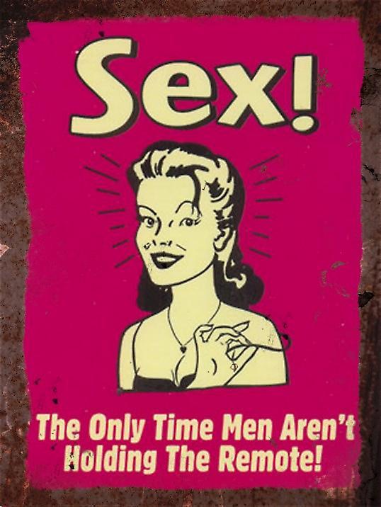 Vintage Metal Wall Sign - Sex!