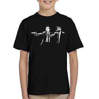 Tintin og Kaptein Haddock Pulp Fiction Kids t-skjorte