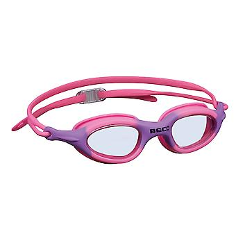 BECO Biarritz Junior Swimming Goggle - Clear Lens - Pink/Purple