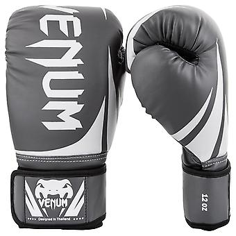 Venum Challenger 2.0 Hook and Loop MMA Training Boxing Gloves - Gray/White