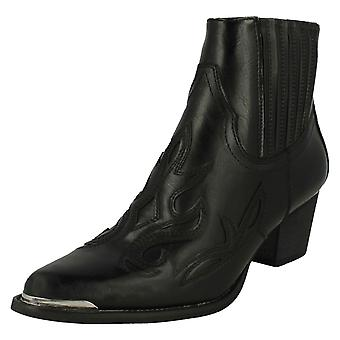 Ladies Down To Earth Slip On Ankle Boots