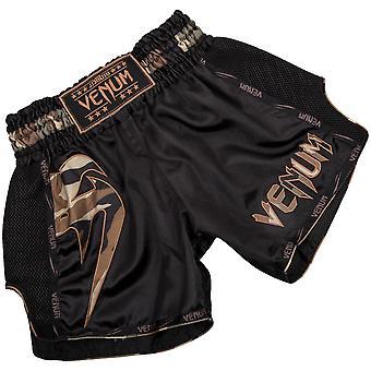 Venum Mens Giant Muay Thai Shorts - Camo/forêt noire