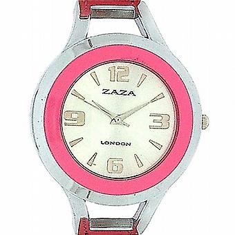 Zaza London Dome Shaped Dial Pink Strap Ladies Watch LLB853