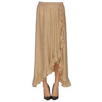 Mes Demoiselles Beige Silk Skirt