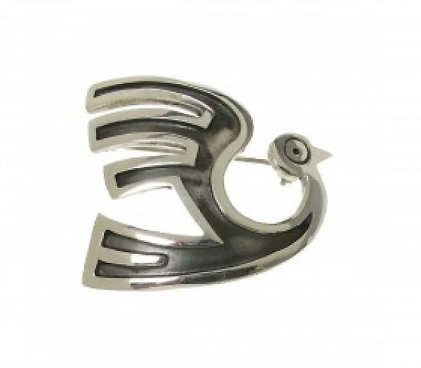 Cavendish French Sterling Silver Incan Phoenix Brooch