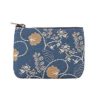 Jane austen blue zip coin purse by signare tapestry / zipc-aust