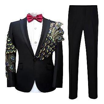 023f4298 Allthemen menns Tuxedo Dress Phoenix tail 2-stykker dresser Dress jakke  bukser