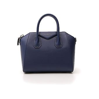 Givenchy Antigoona Blue Leather Handbag