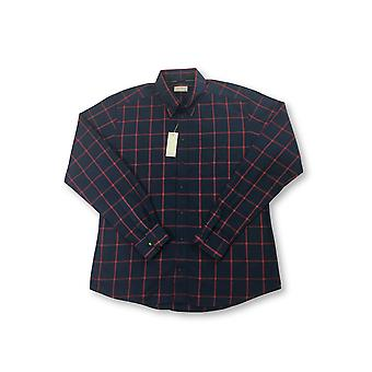 Eton slim fit shirt in navy and red window pane check