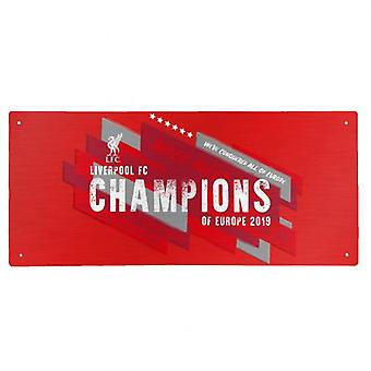 Liverpool Champions av Europa Street Sign