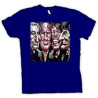 Mens T-shirt - Rolling Stones - Cartoon - Band