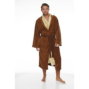 Mens Star Wars Jedi Fleece Bathrobe Dressing Gown Official Licensed Merchandise