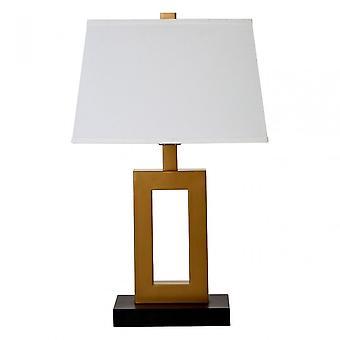 Premier Home Leora bordslampa/EU plugg, tyg, brons