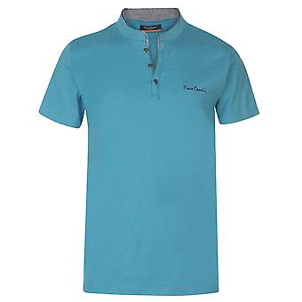 Pierre Cardin Mens Mock Y Collo T Camicia T-Shirt Top