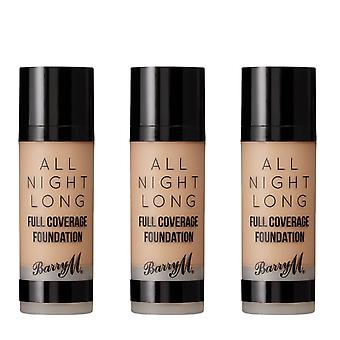 Barry M 3 X Barry M All Night Long Full Coverage Foundation - Crumb