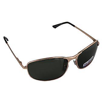 Sonnenbrille Sport Rechteck polarisierendes Glas Gold grün FREE BrillenkokerS304_5