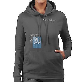 A.P.O.H Williams Shakespeare Writings Portrait Women's Hooded Sweatshirt