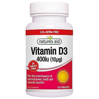 Nature's Aid Vitamin D3 400iu (10ug) Tablets 120
