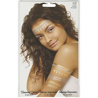 Temporary Tattoos Gold & Silver 5.5