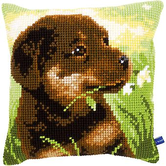 Rottweiler Puppy Cushion Cross Stitch Kit-16