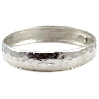 Kenneth Jay Lane Satin Silver Hammered Bangle