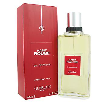 Habit Rouge for Men by Guerlain 3.3 oz EDP Spray