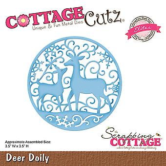 CottageCutz Elites Die -Deer Doily, 3.5