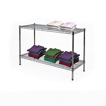 2 Tier Chrome Wire Display Table, W:600mm