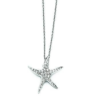 Collana in argento Sterling CZ StarFish - 18 pollici
