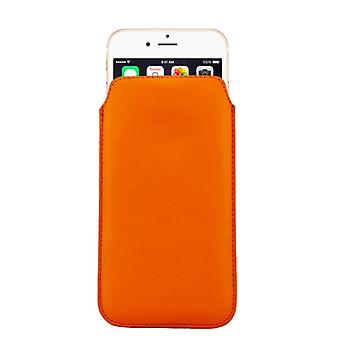 Mobile case bag slide case Orange