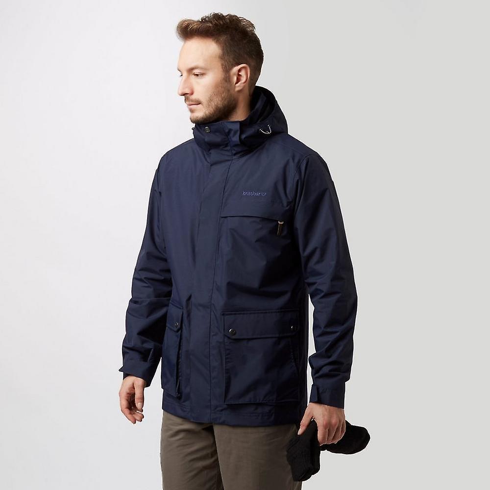 New Brasher Men& 039;s Coniston Walking Hiking Waterproof Jacket Navy