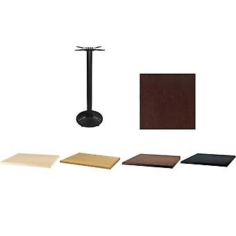 Sally Black Cast Iron Table Base With Mix And Match Square Tops