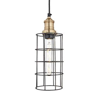 Simple Vintage Cage Wire Pendant Light - Cylinder - 5