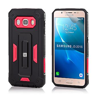 32nd hårt Defender case för Samsung Galaxy J5 (2016) - röd