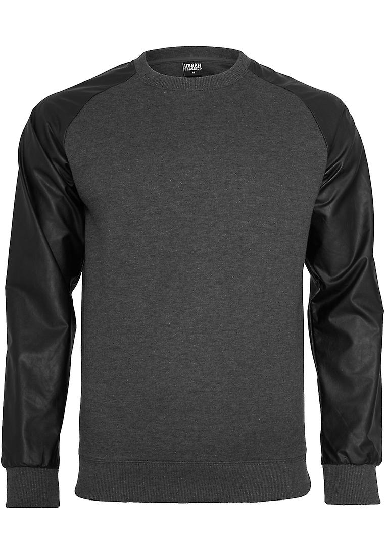 Urban classics sweater Raglan leather imitation
