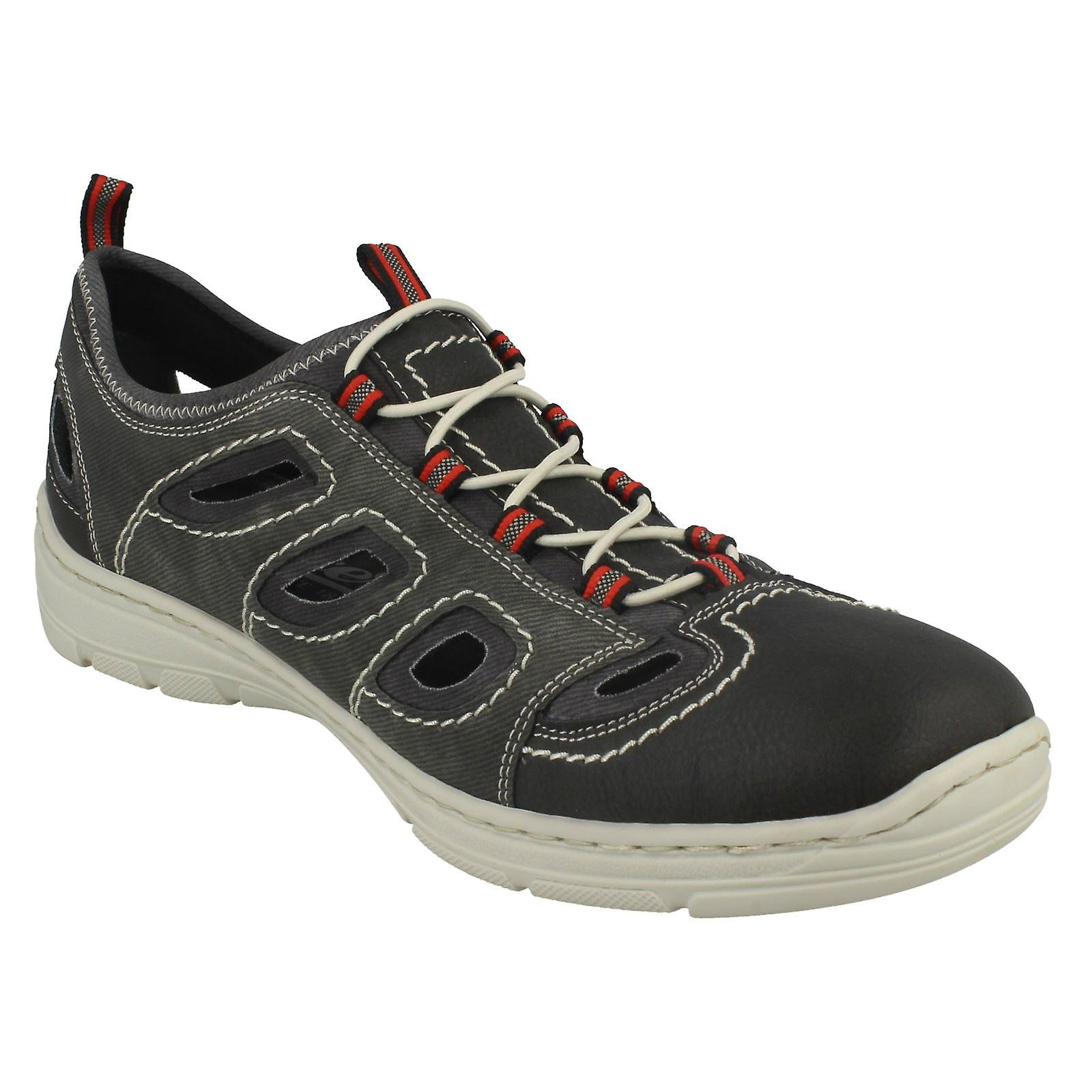 15285 Casual Out Shoes Detail Rieker Cut Mens With ARw47PUx