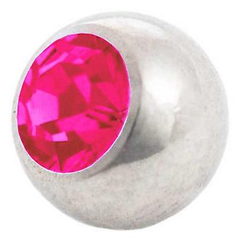 Piercing Replacement Ball, Fuchsia | 1,2 x 3 and 4 mm, Body Jewellery