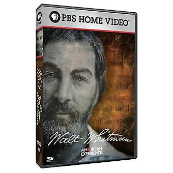 Experiência americana: Walt Whitman [DVD] EUA importar