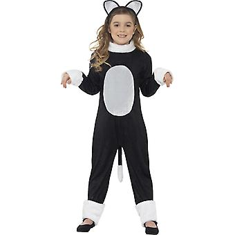 Costume cool cat with one piece tail and head size S