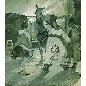Henri Toulouse Lautrec - In the Wings at the Circus Poster Print Giclee