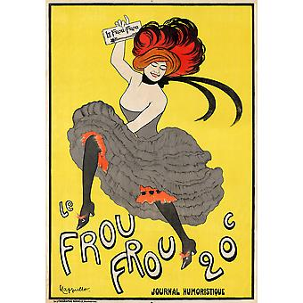 Le Frou Frou journal humoristique Poster Print Giclee