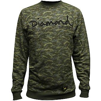 Diamond Supply Co tonale Camo Sweatshirt grøn