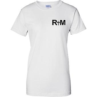 RM コマンドー短剣 - 王立海兵隊・海軍の精鋭部隊 - 女性胸デザイン t シャツ
