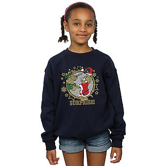 Tom And Jerry Girls Christmas Surprise Sweatshirt