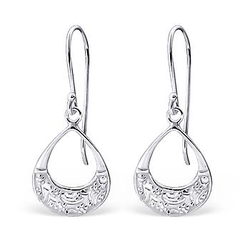 Drop - 925 Sterling Silber Plain Ohrringe