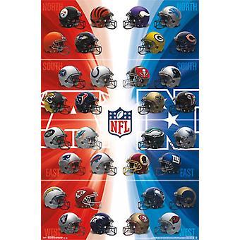 NFL - Helmets 14 Poster Print
