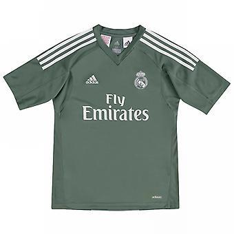 2017-2018 Real Madrid Adidas Home Goalkeeper Shirt (Kids)